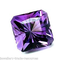4mm x 4mm Natural Purple Amethyst Square Octagon Emerald Cut Gem Gemstone