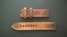 WATCH STRAP/BAND - GENUINE VINTAGE AMMO LEATHER-PAM-STEINHART - HANDMADE 24mm