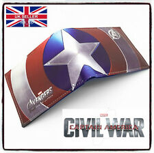 Captain America Civil War Leather Wallet Marvel Avengers Iron Man *UK SELLER*