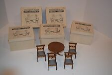 Vintage NOS Shackman Doll House Furniture - Dining Table & Chairs Set - #3855