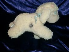 Eden White Lamb Musical Mary Had A Little Lamb Stuffed Plush Wind Up Toy Flowers
