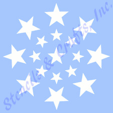 STAR STENCIL STARS CIRCLE TEMPLATES STENCILS TEMPLATE BACKGROUND ART CRAFT NEW