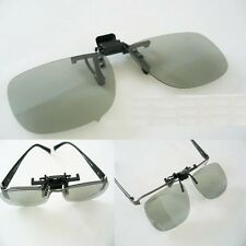 2 Pairs Clip-On Passive 3D Glasses with Polarized Plastic Lenses for Vizio HDTV