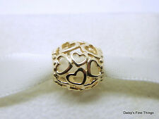 NEW! AUTHENTIC PANDORA CHARM 14K OPEN YOUR HEART #750964  HINGED BOX