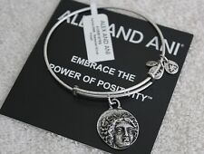 NWT Authentic ALEX AND ANI Byzantine Helios Coin Charm Bangle in Silver HTF