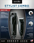 Andis Stylist Combo #66280 Black Envy Clipper & T-Outliner Trimmer Kit + Combs