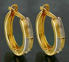 ECHT GOLD *** Kleine Creolen 12 mm bicolor Ohrringe