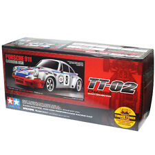 Tamiya 1:10 TT02 Porsche 911 Carrera RSR w/ESC EP RC Car On Road #58571
