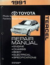 1991 Toyota Tercel Factory Service Manual Original Shop Repair Book