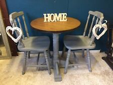 Shabby Chic Round Country Dining table and 2 Chairs
