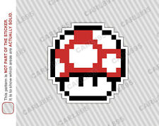 8bit Super Mario Mushroom Car Truck SUV Vinyl Bumper Sticker