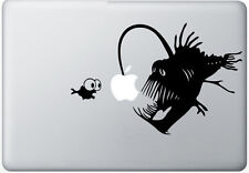 Apple Angler fish sticker BLACK quality vinyl decal mac Macbook Pro Air 11 13 15