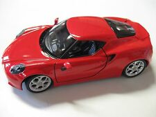 1:24 SCALE WELLY ALFA ROMEO 4C DIECAST CAR MODEL W/O BOX