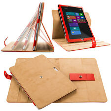 Red 360°Rotating Stand Snap-on Case Smart Cover for Microsoft Surface Pro 3 12""