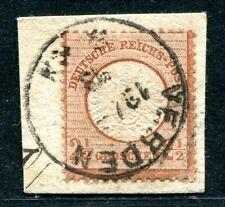 DR 1872 21 gest auf schönem BRIEFSTÜCK VERDEN(J4900