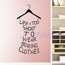 Life Is Short Quote Wall Sticker Art Vinyl Decal Removable DIY Room Home Decor
