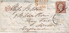 Empire non dentelé n° 16 Obl sur lettre pour Londres
