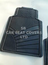 TO FIT A HYUNDAI i20 ACTIVE CAR, MH-003 BLACK, 2 PIECE RUBBER MATS, HEAVY DUTY