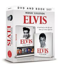 ELVIS PRESLEY IN THE MOVIES DOCUMENTARY DVD & BOOK ELVIS MUSIC LEGENDS GIFT SET