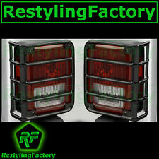 07-16 2016 Jeep JK Wrangler Rubicon Black Metal Euro Taillight Lamp Guard Cover