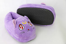 PL-SM-09 Sailor Moon Luna Plüsch Pantoffeln Hausschuhe purple slippers shoes