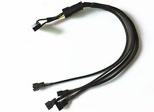 30cm 15pin SATA to 4 x 3pin Fan Power Cable Y Splitter Extension Cable 12V
