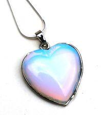 L'énergie reiki facturés OPALITE Cœur Pendentif En Cristal Cadeau Saint Valentin magnifique
