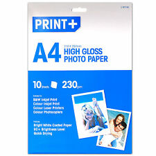 ULTRA HIGH QUALITY 10 Sheets Of A4 ★230gsm THICK★ High Gloss Photo Printer Paper