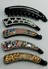 Wholesale Joblot 10pc Diamante Banana Hair Clip,Twist Comb,Fish Clip Grip Slide