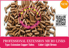 PreBonded Human Hair Keratin Fusion Extensions Micro Ring Copper Tube L.Brown