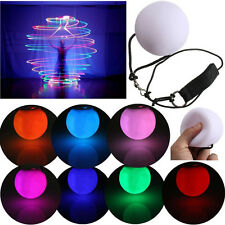 LED Glow POI Thrown Balls Light Up For Belly Dance Hand Props Colorful