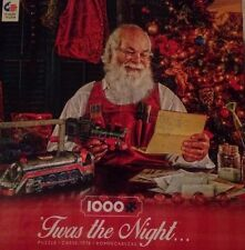 """Ceaco """"Twas the Night"""" Santa Checking His List Twice 1000 Piece Christmas Puzzle"""