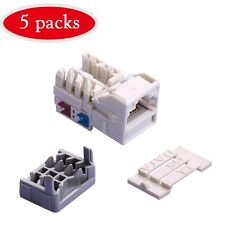 5 Pcs lot Keystone +TOOL Jack Cat6 White Network Ethernet 110 Punchdown  RJ45