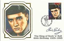 ELVIS PRESLEY - FIRST DAY COVER 038 KING OF ROCK STAMPED IN GAMBIA
