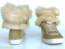 Puma ALEXANDER McQUEEN FUR JOUSTESSE Hi Sneaker Boot Shoe WEAR 2 WAY Womens 6.5