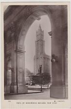 WOOLWORTH BLDG AS SEEN THROUGH MUNICIPAL BLDG, REAL PHOTO POSTCARD, NYC
