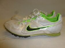 Womens Nike Multi Use Track Cleats Spikes Shoes Neon Lime Green Pearl White 8
