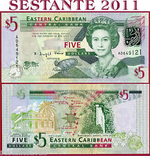 EAST CARIBBEAN STATES -  5 DOLLARS nd 2008 -  P 47 -   FDS/UNC