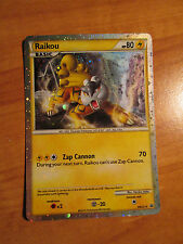 Prime RAIKOU Pokemon PROMO Card HGSS19 Black Star Set Collector's Tin Fall 2010