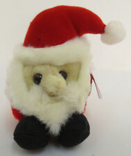 PUFFKINS HO HO SANTA CLAUS CHRISTMAS XMAS STUFF ANIMALS BEANIE CUTE NEW 1997