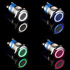 Druckschalter LED Beleuchtet Angel Eye 16mm/19mm 12V Auto KFZ Drucktaster Taster