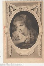 Girl With An Apple, J.B. Greuze, Tuck 5783 Calendar Postcard, B530
