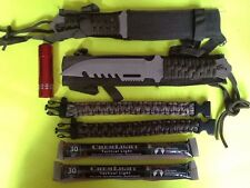 Emergency Survival Gear Kit Knives Paracord Light Doomsday Prepper Hunting EMP
