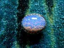 Kenneth Jay Lane Blue Crystal Pave Resin Opal Adjustable Ring 5 - 9