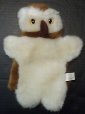 "Owl Hand Puppet 10"" Stuffed Animal Unisex Pretend Play Toy HighReach Learning"