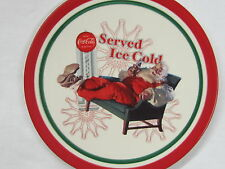 """Coca-Cola Christmas Plate """"Served Ice Cold"""" - FREE SHIPPING"""