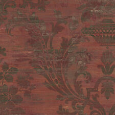 Victorian Aged Damask Wallpaper Double Roll Bolts FREE SHIPPING