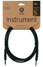 Planet Waves 5' Foot Straight Black Classic Instrument Pedal Patch Cable