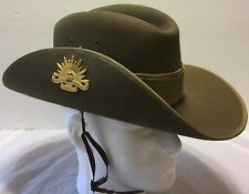 Vintage Australian Military Forces Slouch Medallion Hat Size 6 7/8 Army AMF UK