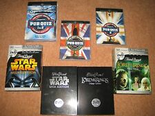 DVD Quizs - Pub Quiz 1 & 2 + Star Wars Saga + Lord of the Rings Trivial Pursuit